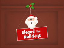 Closed for Christmas holidays Stock Photography