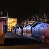 Empty closed christmas market stalls in Strasbourg after attacks. Closed Christmas Market stalls chalets after terrorist attack of Cherif Chekatt at Christmas royalty free stock photography