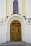 A closed church door Royalty Free Stock Photography