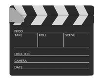 Closed cinema slate Stock Image