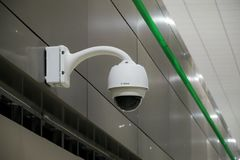 Closed circuit camera and CCTV Security Royalty Free Stock Photo