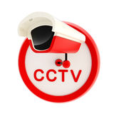 Closed circuit television alert sign stock illustration