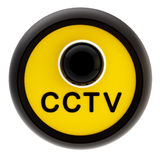 Closed circuit television alert sign Royalty Free Stock Image