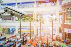 Closed Circuit Television camera monitoring of supermarket. Shopping mall Royalty Free Stock Photos