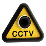Closed circuit television CCTV alert sign Royalty Free Stock Photos