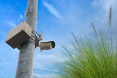 Closed circuit television (CCTV) equipment for protect thief ste Stock Photography