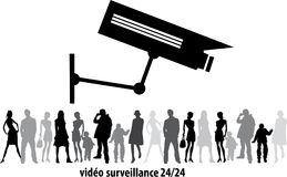 Closed-circuit television, Security CCTV camera or surveillance system in office building shopping mall ,use video transmit a sign. CCTV security indoor camera Stock Photo