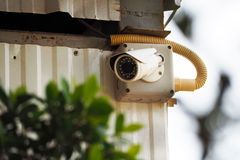 Closed circuit TV camera for security Stock Image