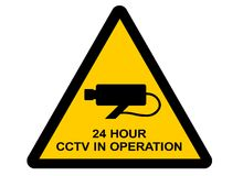 Closed circuit TV sign Royalty Free Stock Photo