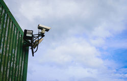 Closed circuit tv surveillance camera Royalty Free Stock Photo