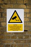 Closed Circuit TV Warning Sign Royalty Free Stock Photos
