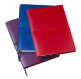 Closed colored Leather Notebooks Stock Photos