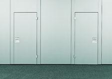 Closed conference room door Stock Photo