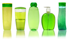 Closed Cosmetic Or Hygiene Plastic Bottle Of Gel. Closed Cosmetic Or Hygiene  Plastic Bottle Of Gel, Liquid Soap, Lotion, Cream, Shampoo. Isolated On White Stock Images