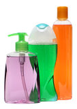 Closed Cosmetic Or Hygiene Plastic Bottle Of Gel, Liquid Soap, Lotion, Cream, Shampoo. Isolated On White Background. Royalty Free Stock Photo