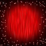 Closed curtain and little stars Royalty Free Stock Photos