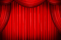Closed curtains Stock Photos