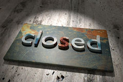 Closed Royalty Free Stock Images