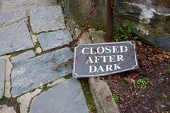 Closed After Dark Stock Image