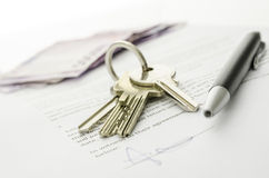 Closed Deal Of Buying A House Royalty Free Stock Photos