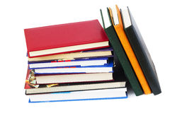 Closed diaries and books Royalty Free Stock Photography