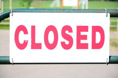 Closed!. Closed , directional marking , safety sign no entrance Royalty Free Stock Photo