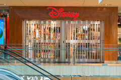 Closed Disney store at Galleria shopping mall. HOUSTON, TEXAS - DECEMBER: Closed Disney shop in Galleria shopping mall on December, 2015 in Houston, Texas Royalty Free Stock Images