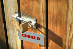 Closed door Royalty Free Stock Photography