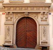 Closed door. Old closed door of uno of the Mala Strana Palaces in Prague royalty free stock image