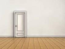 Closed door. White room with closed door Stock Photo