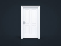 Closed door on black background. Concept Royalty Free Stock Photo