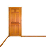 Closed Door (clipping path). A closed door against a white background (clipping path included Stock Photos