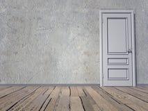 Closed door - 3D render Stock Photos