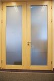 Closed door with doorknob Royalty Free Stock Photos