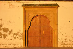 Closed door in Essaouria Stock Photography