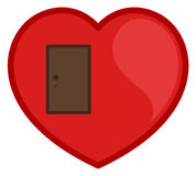 Closed Door Heart Vector Royalty Free Stock Images