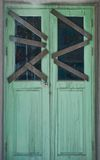 Closed door. Of huntedhouse in the mall Royalty Free Stock Photo