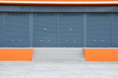 Closed door of new modern warehouse building Royalty Free Stock Photos
