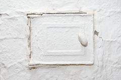Closed door of old furnace Stock Photography