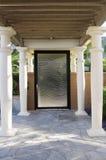 Closed Door With Pillars At Yard Royalty Free Stock Photos