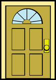 Closed door vector illustration Royalty Free Stock Photo