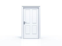 Closed door on white background Royalty Free Stock Image