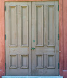 Closed Doors. A set of large doors closed to the public Royalty Free Stock Image