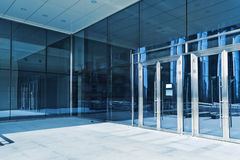 Closed doors in modern business center. Closed doors of the entrance in modern business center Stock Photo