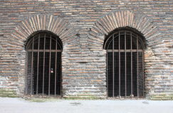 Closed doors of a prison Royalty Free Stock Photo