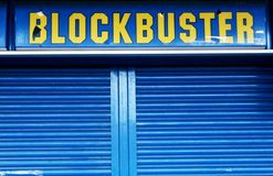Closed down Blockbuster Video stock photo