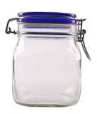 Closed empty jar Stock Photography