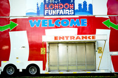 Closed entrance of a funfair Royalty Free Stock Photo