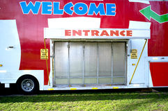 Closed entrance of a funfair Royalty Free Stock Images