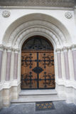 Closed entrance of Greek Catholic Church in Zagreb, Church Stock Photos